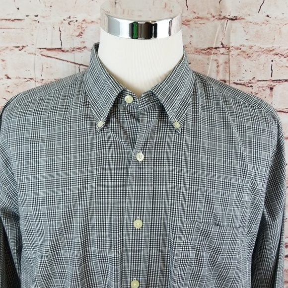 Austin Reed Shirts Austin Reed London Xl Euc Blk White Plaid Shirt Poshmark